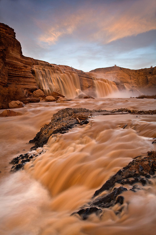 Grand Falls on the Navajo Nation in northern Arizona