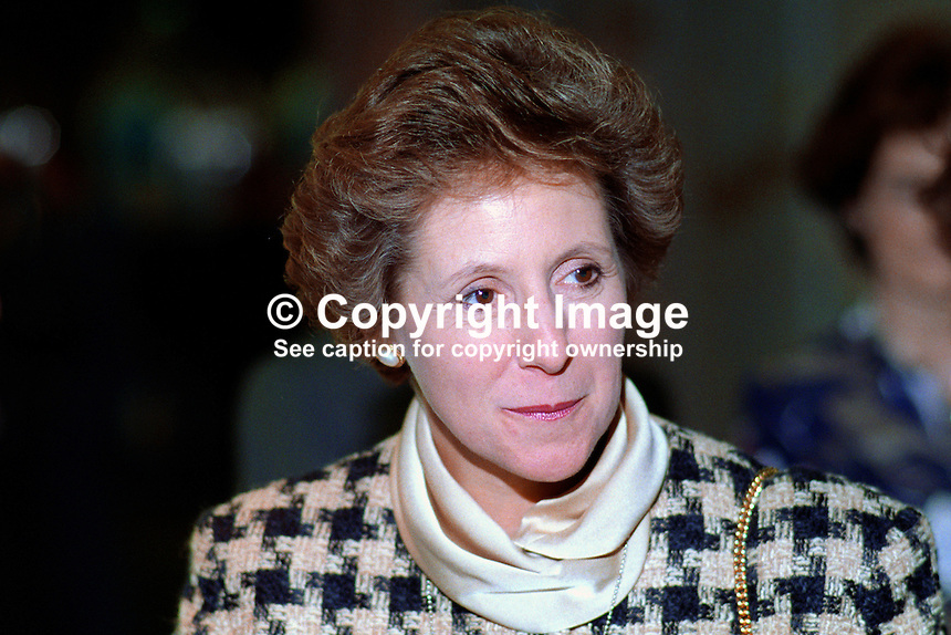Norma Major, wife of John Major, MP, Prime Minister, UK, leader, Conservative Party, 19921066NM1.Copyright Image from Victor Patterson, 54 Dorchester Park, <br />