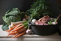 Europe/France/Gastronomie générale: Le Pot-au-Feu- les ingrédients crus
