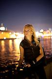 Nachtleben Moskau am Fluß