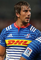 DURBAN, SOUTH AFRICA - MAY 27: Eben Etzebeth (vice-captain) of the DHL Stormers during the Super Rugby match between Cell C Sharks and DHL Stormers at Growthpoint Kings Park on May 27, 2017 in Durban, South Africa. Photo by Steve Haag / stevehaagsports.com