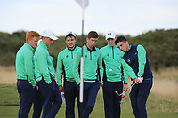 Some Ireland team practice during Day 3 / singles of the Boys' Home Internationals played at Royal Dornoch Golf Club, Dornoch, Sutherland, Scotland. 09/08/2018<br /> Picture: Golffile | Phil Inglis<br /> <br /> All photo usage must carry mandatory copyright credit (&copy; Golffile | Phil Inglis)