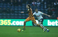 Hull City's Jackson Irvine shields the ball from Preston North End's Andrew Hughes<br /> <br /> Photographer Stephen White/CameraSport<br /> <br /> The EFL Sky Bet Championship - Preston North End v Hull City - Wednesday 26th December 2018 - Deepdale Stadium - Preston<br /> <br /> World Copyright &copy; 2018 CameraSport. All rights reserved. 43 Linden Ave. Countesthorpe. Leicester. England. LE8 5PG - Tel: +44 (0) 116 277 4147 - admin@camerasport.com - www.camerasport.com