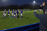 City of Liverpool 6 Holker Old Boys 1, 10/12/2016. Delta Taxis Stadium, North West Counties League Division One. Home supporters and players celebrating their team's fourth goal at the Delta Taxis Stadium, Bootle, Merseyside as City of Liverpool hosted Holker Old Boys in a North West Counties League division one match. Founded in 2015, and aiming to be the premier non-League club in Liverpool, City were admitted to the League at the start of the 2016-17 season and were using Bootle FC's ground for home matches. A 6-1 victory over their visitors took 'the Purps' to the top of the division, in a match watched by 483 spectators. Photo by Colin McPherson.