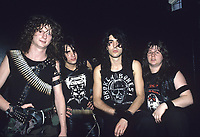 Voivod portraits photographed at The Metro in Chicago, Illinois.<br /> May 31,1986<br /> CAP/MPI/GA<br /> &copy;GA/MPI/Capital Pictures