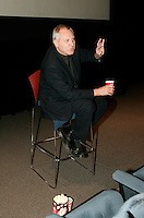 October 21 2004, Montreal (Quebec) CANADA<br /> Peter Greenaway gives an improvised Master's Class at the New Cinema Festival in Montreal.<br /> Photo (c) 2004) P Roussel / Images Distribution