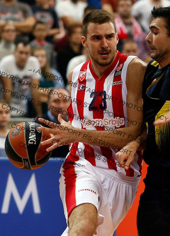 Marko Guduric  Euroleague basketball game between Crvena Zvezda and Fenerbahce on Novembar 6. 2015 Beograd, Srbija, 6.11.2015.  (credit image & photo: Pedja Milosavljevic / STARSPORT)
