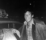 Ron Leibman hailing a Taxi on December 3, 1979 in New York City.