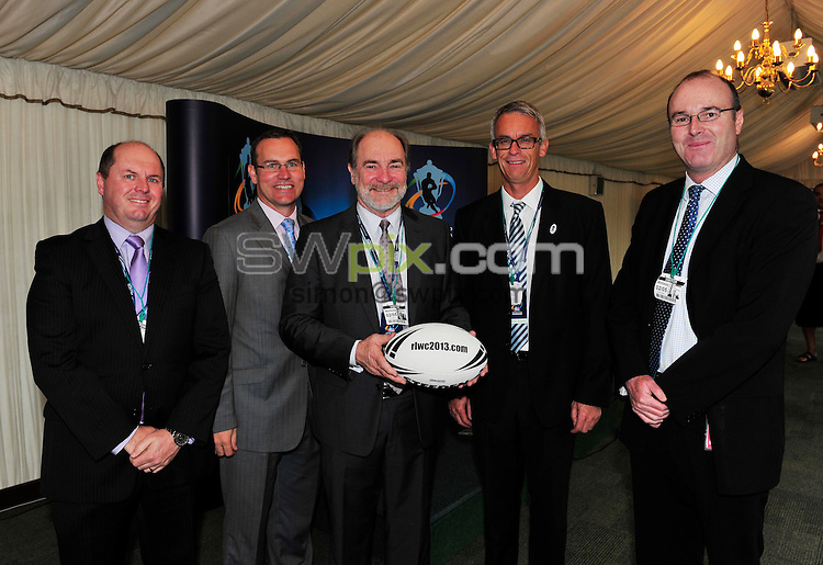 PICTURE BY SIMON WILKINSON/SWPIX.COM - Rugby League - RLIF House of Commons Visit - House of Commons, London, England - 02/05/12 - Representatives of the RLIF and RLWC 2013 Delegates attend a function at the House of Commons with the RFL's Nigel Wood, John Prescott and Sports Minister Hugh Robertson.