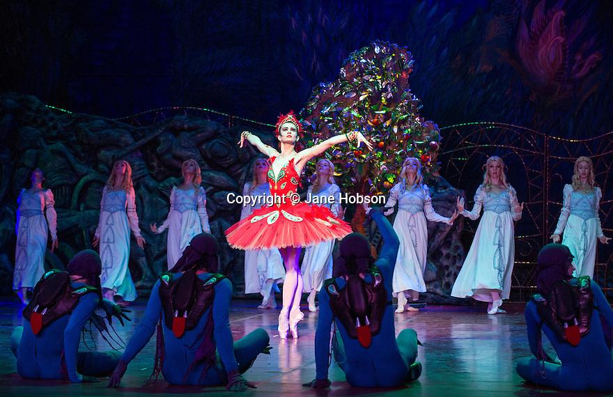 London, UK. 16.07.2013. FIREBIRD, part of the Russian Seasons of the 21st Century,opens at the London Coliseum. Picture shows: Alexandra Timofeyeva (Firebird). Photograph: © Jane Hobson.