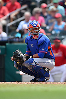 New York Mets catcher Xorge Carrillo (71) during a Spring Training game against the St. Louis Cardinals on April 2, 2015 at Roger Dean Stadium in Jupiter, Florida.  The game ended in a 0-0 tie.  (Mike Janes/Four Seam Images)