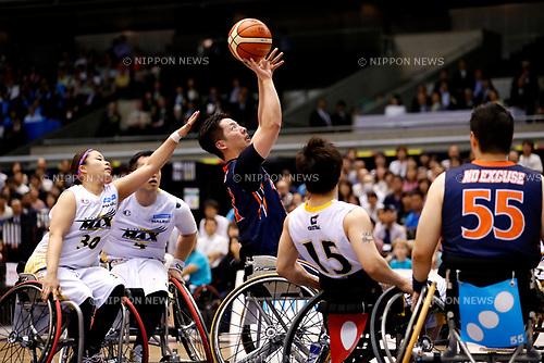 Takahiro Ikeda (NO EXCUSE), <br /> MAY 5, 2017 - Wheelchair Basketball : <br /> Japan Wheelchair Basketball Championship<br /> final match between Miyagi MAX - NO EXCUSE <br /> at Tokyo Metropolitan Gymnasium in Tokyo, Japan. <br /> (Photo by Yohei Osada/AFLO SPORT)