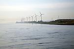 Wind turbines, Port of Rotterdam, Holland