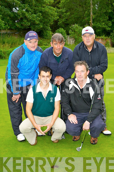 The Ceann Sibeal team that played Waterville in the Irish Junior Cup in Beaufort Golf Course on Saturday morning front row l-r: Tomás O Lubhaig, Tom Ashe, back row: Liam O'Hanlon, Jimmy O'Connor and Tommy Sayers.