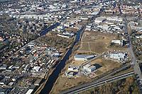 Schleusengraben: EUROPA, DEUTSCHLAND, HAMBURG, BERGEDORF (EUROPE, GERMANY), 12.03.2015 Schleusengraben von der Autobahn in Richtung Nord