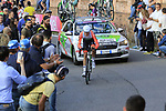 Umberto Orsini (ITA) Bardiani-CSF on the San Luca climb during Stage 1 of the 2019 Giro d'Italia, an individual time trial running 8km from Bologna to the Sanctuary of San Luca, Bologna, Italy. 11th May 2019.<br /> Picture: Eoin Clarke | Cyclefile<br /> <br /> All photos usage must carry mandatory copyright credit (© Cyclefile | Eoin Clarke)