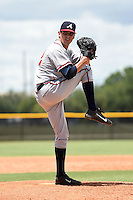 GCL Braves pitcher Jared Dettmann (62) delivers a pitch during a game against the GCL Yankees 2 on June 23, 2014 at the Yankees Minor League Complex in Tampa, Florida.  GCL Yankees 2 defeated the GCL Braves 12-4.  (Mike Janes/Four Seam Images)