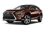 Stock pictures of low aggressive front three quarter view of 2016 Lexus RX Executive 5 Door SUV Low Aggressive