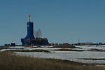 Parker Drilling 272 on the Arctic plain of Prudhoe Bay.