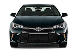 Car photography straight front view of a 2015 Toyota Camry Se 4 Door Sedan