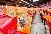 Picture by Allan McKenzie/SWpix.com - 07/10/2017 - Rugby League - Betfred Super League Grand Final - Castleford Tigers v Leeds Rhinos - Old Trafford, Manchester, England - The brief, Castleford flags.