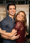 """Matt Doyle and Alex Finke attend a press reception for the cast of The Tooting Arts Club production of """"Sweeney Todd''  at AOC L'aile ou la Cuisse on February 2, 2017 in New York City."""