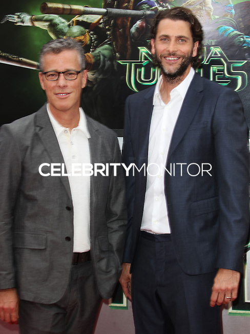 WESTWOOD, LOS ANGELES, CA, USA - AUGUST 03: Bradley Fuller, Andrew Form at the Los Angeles Premiere Of Paramount Pictures' 'Teenage Mutant Ninja Turtles' held at Regency Village Theatre on August 3, 2014 in Westwood, Los Angeles, California, United States. (Photo by Celebrity Monitor)