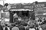 Silver Jubilee Street Party 1977 Barking east London. Barking Essex UK<br />