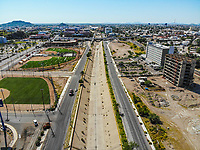 Synthetic grass fields, softball, big league dreams.<br /> campos de pasto sintetico, softboll,  big league dreams. Hotel Hilton<br /> <br /> Paisaje urbano, paisaje de la ciudad de Hermosillo, Sonora, Mexico.<br /> Urban landscape, landscape of the city of Hermosillo, Sonora, Mexico.<br /> (Photo: Luis Gutierrez /NortePhoto)