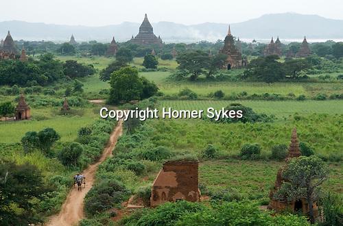 Tourist pony and trap Bagan. Myanmar Burma 2006.