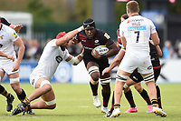 Maro Itoje of Saracens takes on the Wasps defence. Aviva Premiership match, between Saracens and Wasps on October 8, 2017 at Allianz Park in London, England. Photo by: Patrick Khachfe / JMP