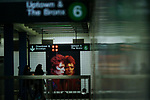 NEW YORK - APRIL 20: People walk at a subway station while images of David Bowie are displayed as art installations on April 20, 2018 in New York, NY. A Bowie exhibition inside Broadway-Lafayette subway station features fan-made works of Bowie-themed art paying tribute to one of rock's most iconic figures in New York City. The Bowie installation at Broadway-Lafayette is a collaboration between Spotify and the Brooklyn Museum.((Photo by Eduardo MunozAlvarez/VIEWpress)
