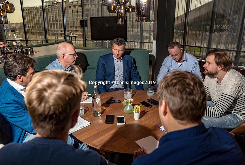 Rotterdam, The Netherlands, 10 Januari 2019, ABNAMRO World Tennis Tournament, Pressconference, Tournament Director : Richard Krajicek talks to the press<br /> Photo: www.tennisimages.com/Henk Koster
