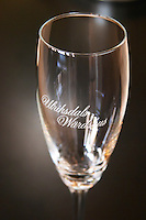 A champagne glass with the name of the restaurant: Ulriksdals Wärdshus against a black background Ulriksdal Ulriksdals Wärdshus Värdshus Wardshus Vardshus Restaurant, Stockholm, Sweden, Sverige, Europe