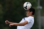 Freehold Township's # 17 Josh Cagan gets his head on the ball as  Christian Brothers Academy takes on Freehold Township in a boys varsity soccer game at Freehold Township High School on Monday September 18, 2017.<br /> (Mark R. Sullivan | For NJ Advance Media)
