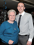 Ronan McEnteggart celebrating his 21st birthday with grandmother Aileen Maher. Photo: Colin Bell/pressphotos.ie