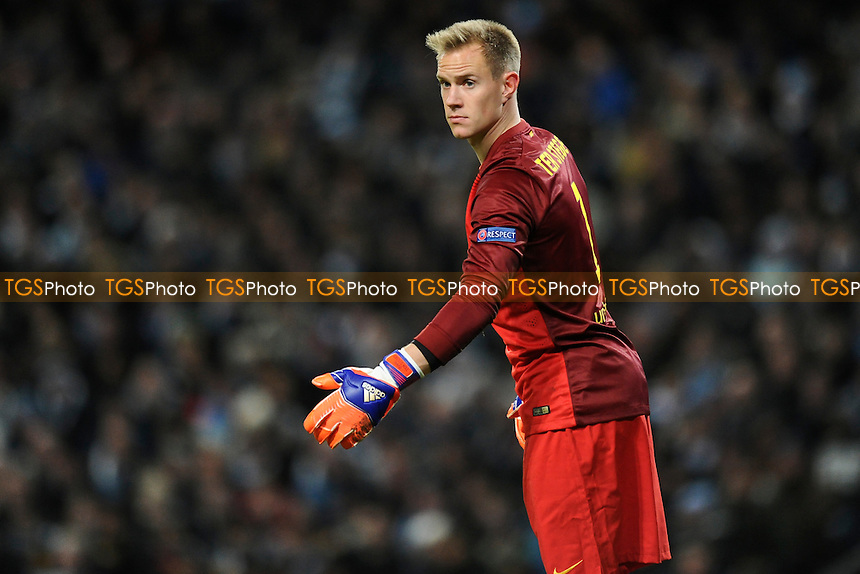 Marc-Andre ter Stegen of Barcelona - Manchester City vs Barcelona - UEFA Champions League Round of 16 1st Leg Football at the Etihad Stadium, Greater Manchester - 24/02/15 - MANDATORY CREDIT: Greig Bertram/TGSPHOTO - Self billing applies where appropriate - contact@tgsphoto.co.uk - NO UNPAID USE