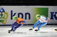 SCHAATSEN: DORDRECHT: Sportboulevard, Korean Air ISU World Cup Finale, 10-02-2012, Annita van Doorn NED (145), Arianna Fontana ITA (126), ©foto: Martin de Jong