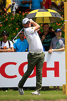 Bernd Wiesberger (AUT) on the 15th tee during Round 3 of the Maybank Malaysian Open at the Kuala Lumpur Golf & Country Club on Saturday 7th February 2015.<br /> Picture:  Thos Caffrey / www.golffile.ie