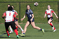 Penn State women's rugby Corinne Heavner against Rutgers 2 women's rugby during the Big Ten Women's Rugby 7's Tournament on April 9, 2017. Penn State won 73-0. Photo/©2017 Craig Houtz
