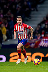 Saul Niguez Esclapez of Atletico de Madrid in action during the La Liga 2018-19 match between Atletico de Madrid and RCD Espanyol at Wanda Metropolitano on December 22 2018 in Madrid, Spain. Photo by Diego Souto / Power Sport Images