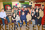 Tom McElligott, seated centre from Castletown Kilflynn, celebrated his 60th birthday with family and friends in Parker's Bar Kilflynn on Friday night.