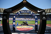 banner Serie A TIM and sponsor AS Roma<br /> Roma 31-03-2019 Stadio Olimpico, <br /> Football Serie A 2018/2019 AS Roma - Napoli <br /> Foto Cesare Purini / Insidefoto