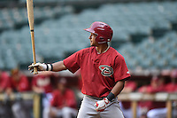 Arizona Diamondbacks outfielder Gerard Hernandez (4) during an Instructional League game against the Oakland Athletics on October 10, 2014 at Chase Field in Phoenix, Arizona.  (Mike Janes/Four Seam Images)