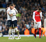 Tottenham's Kyle Walker and Eric Dier celebrate at the final whistle <br /> <br /> Barclays Premier League- Tottenham Hotspurs vs Arsenal  - White Hart Lane - England - 7th February 2015 - Picture David Klein/Sportimage