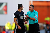 9th September 2017, bet365 Stadium, Stoke-on-Trent, England; EPL Premier League football, Stoke City versus Manchester United; Referee Neil Swarbrick controls the game