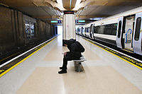 Very quiet Charing Cross train station during Coronavirus outbreak in London, England on March 18, 2020.<br /> CAP/JOR<br /> ©JOR/Capital Pictures