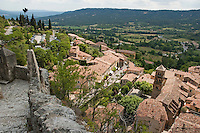 Looking over the rooftops of Moustiers-Sainte-Maire, Provence, France.