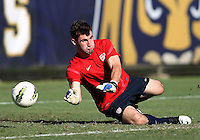 MIAMI, FL - DECEMBER 21, 2012:  Tomas Gomez of the USA MNT U20 during a closed scrimmage with the Venezuela U20 team, on Friday, December 21, 2012, At the FIU soccer field in Miami.  USA won 4-0.
