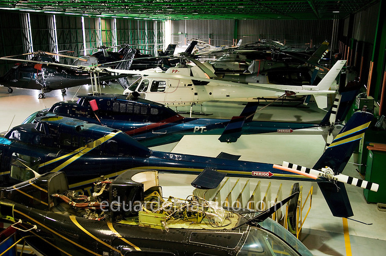 The interior of one of Helicidade's hangar.
